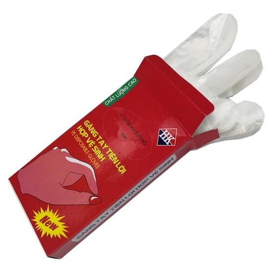 găng tay nion đóng hộp