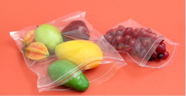 Túi zipper đựng hoa quả thực phấm sạch